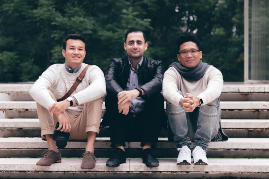 Left to right: Kaoru Lovett, Graham Hart, and Ronald Ribao