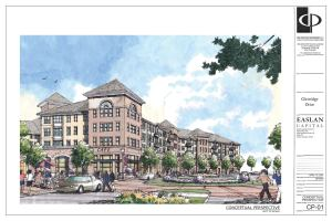Full Steam Ahead: Atlanta-based Wood Partners purchased a 2.5-acre site in Sandy Springs, Ga., where it plans to build Glenridge Springs, a 168-unit community (pictured here). Wood is not alone??recently, a number of REITs and other private players are looking at land deals with renewed interest.