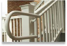Figure 18. For commercial jobs, TimberTech offers an ADA-compliant handrail system for decks.