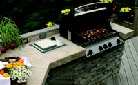 Outdoor kitchens are one of the biggest trends in deck design, with most demand at the high end.