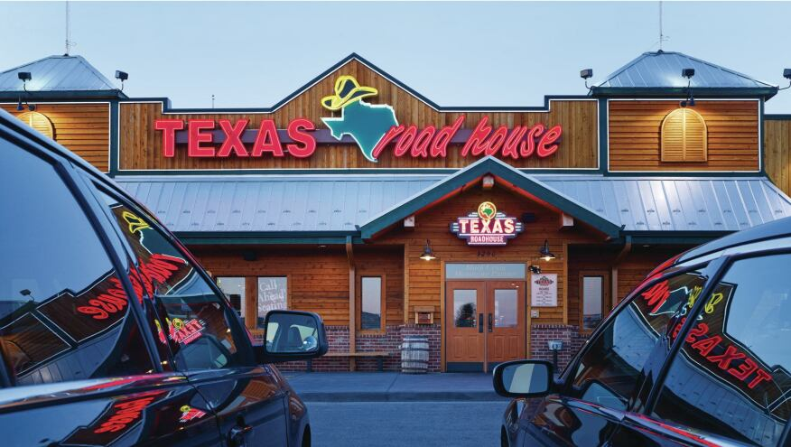 A Texas Roadhouse in Bradley, Ill., designed by GreenbergFarrow.