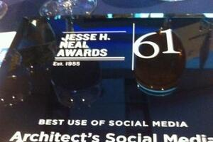 ARCHITECT Wins Neal for Best Social Media