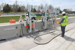Concrete barrier special application drill