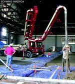 "In areas of the Southern Indiana Career and Technical Center site where the ceiling is a little lower, ""it takes some serious patience and understanding of the boom's abilities."""