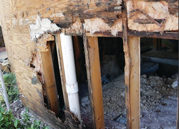 To help prevent water damage like this, don't skimp on a weather resistant barrier or its installation.