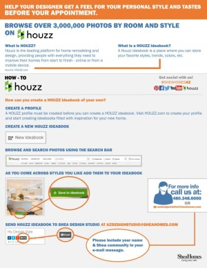 To Better Prepare Shea Homes Customers For Their Design Studio Appointments Shea Recently Joined The Popular Online Platform Called Houzz
