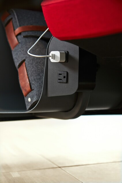 Brody offers integrated power in the base of the seat, within a user's reach.