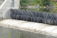 Inflatable' dam controls flood-prone river