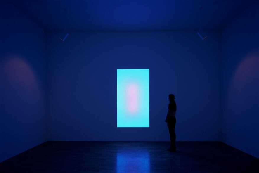 James Turrell, Sojourn (2006), a Tall Glass installation