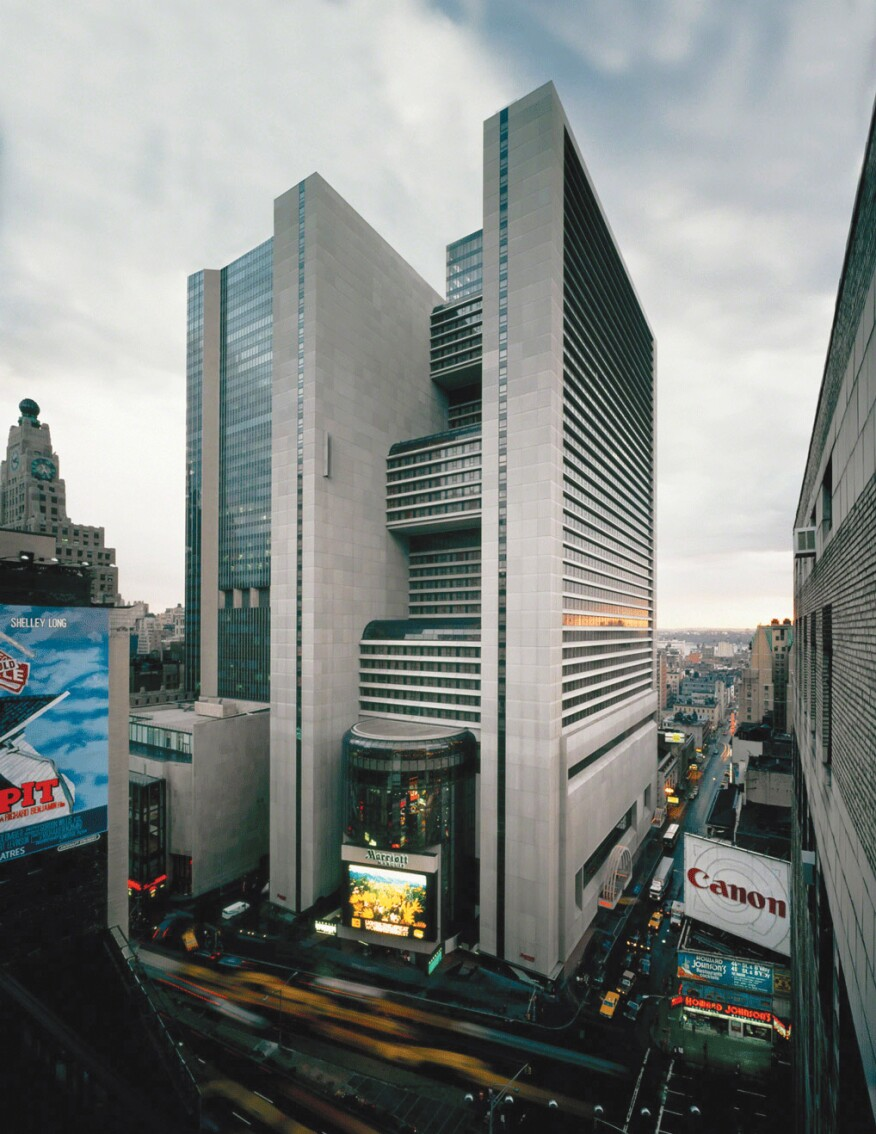 The Marriott Marquis in the 1980s
