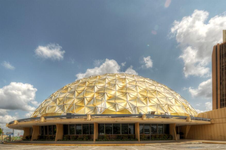 The Gold Dome building, which will be renamed the TEEMCO Gold Dome, as it stands today.