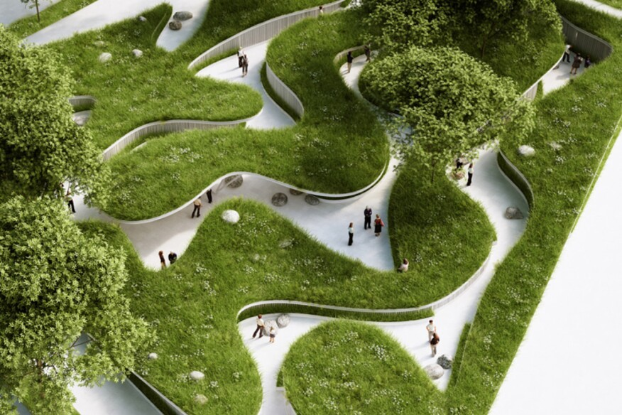 Landscaping project highlights global water crisis for Water garden design