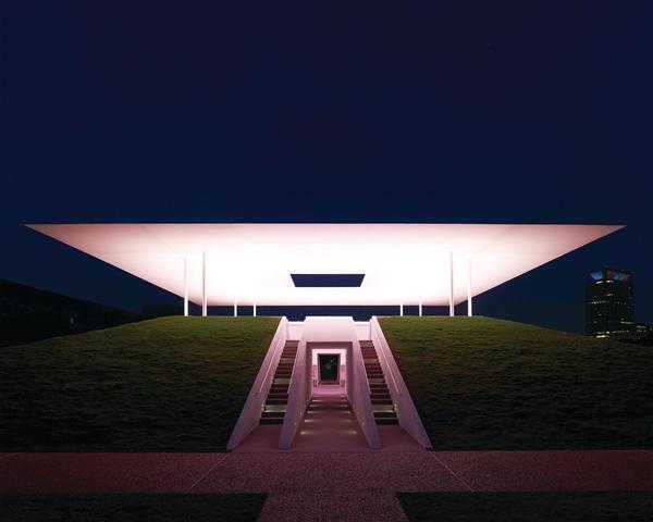 "James Turrell, ""Twilight Epiphany,"" 2012. Houston sky space."