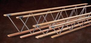 Trus Joist open-web trusses    iLevelwww.ilevel.com  High strength-to-weight performance allows builders to span long distances with fewer supporting structures, providing clear floor space - Available in numerous configurations, such as parallel chord, tapered, pitched, scissor, barrel, and parabolic - Custom manufactured to the specifications of the individual job