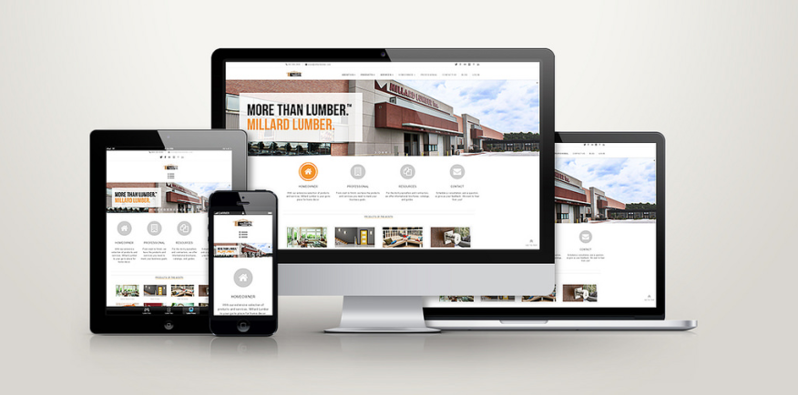 Responsive design principles helped the company create a site that works equally well on any device.