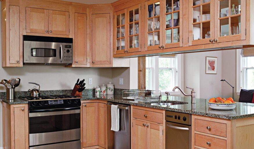 Open Flow: Create an opening or half-wall between the kitchen and any of the adjacent social spaces so that there is a way to see and hear what is going on there without having to leave the kitchen work areas to do so.