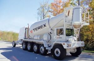 Terex introduced its new line of front-discharge ready-mix trucks at World of Concrete.
