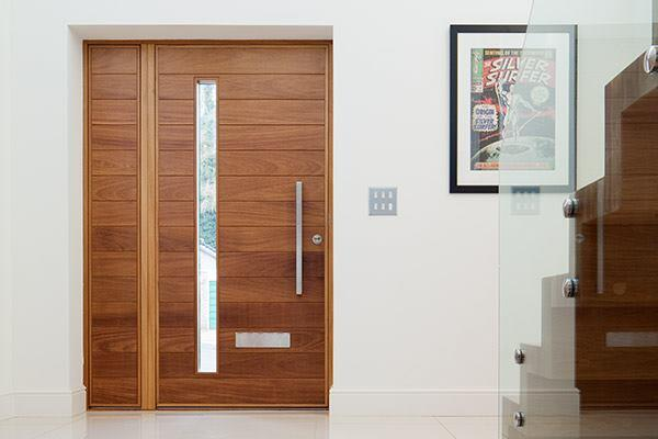 Urban Front launched C-range in a limited number of designs (terano shown) and woods (European oak and American black walnut) to cater to developers and contractors who wanted a simplified ordering process. The 78mm-thick door comes with weatherseal on all four edges of the frame and sill. Urban Front offers wood options that are certified by the Forest Stewardship Council, that have Pan-European Forest Certification, or that comply with the Timber Trade Federation guidelines for responsible purchasing of timber. urbanfront.co.uk