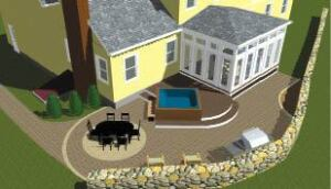 Figure 2. Using 3D design software provides customers with an image of the finished project, greatly helping the sale.
