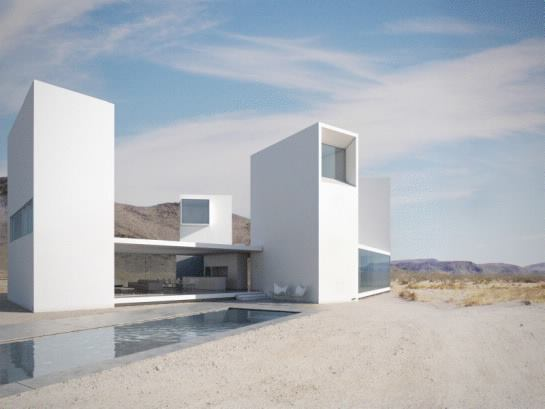 Four Eyes House, Coachella Valley, Calif., by Edward Ogosta Architecture