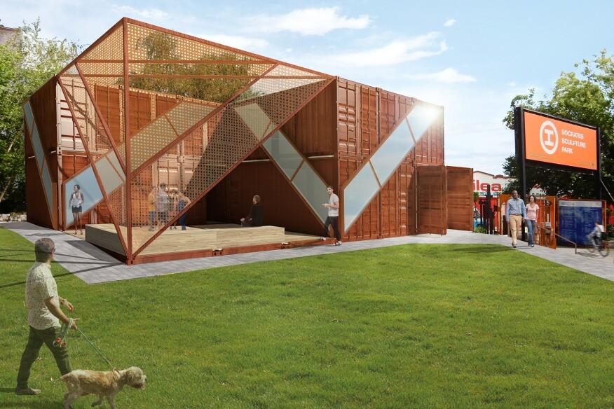 Rendering of Socrates Sculpture Park