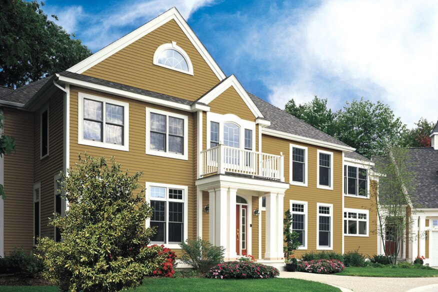 Looking Good:  New siding products add luster to a home's appearance.