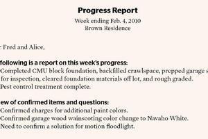 Progress Report for Clients