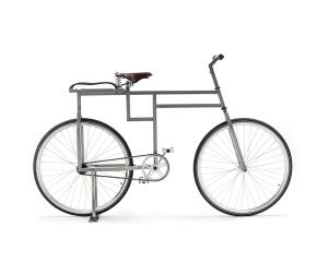 OBJECT    The BauBike, designed by Denmark's Michael Ubbesen Jakobsen, doesn't offer much in terms of aerodynamics, but it more than compensates with aesthetics—assuming that you find the golden section and Bauhaus sexy. The bike's design follows a strict geometry of 60 and 90 degree angles, yet it is customizable; you can add an extra seat or luggage carrier. Price on request.  baubike.dk