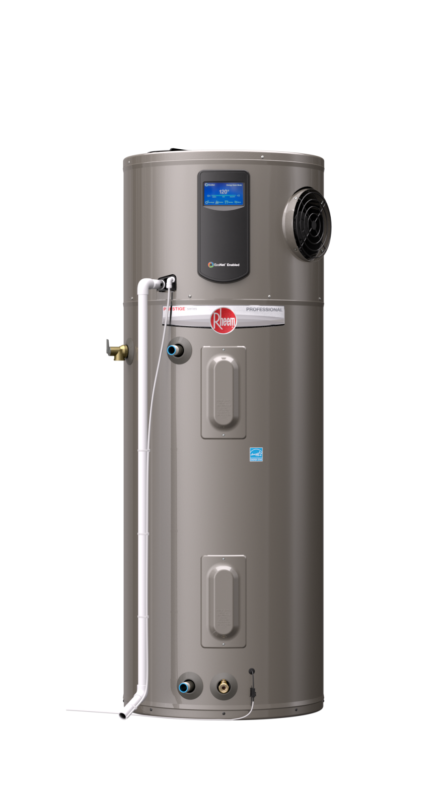 Hybrid Water Heater ~ New hot water heater from rheem reduces energy use by