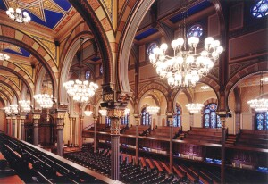 Central Synagogue in New York, which Hardy Holzman Pfeiffer Associates renovated in 2001 following a disastrous fire.