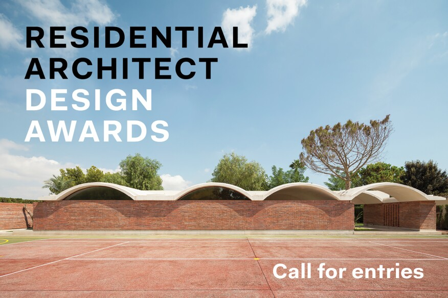 Enter The Residential Architect Design Awards Architect