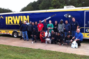 Students at Cherokee Tech school in Gaffney, S.C., and area trade pros were treated to lunch and special thanks from Irwin Tools†leading up to the inaugural National Tradesmen Day in 2011.
