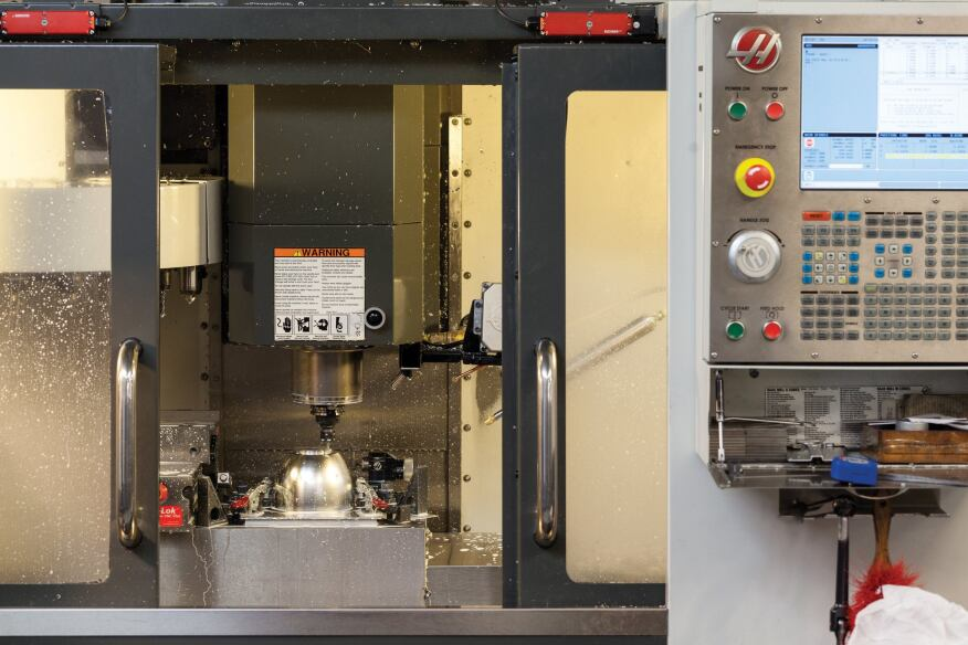 Edison Price's Haas Automation VF-1 vertical machining center also supports the production of the company's track systems and R&D efforts.