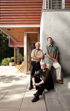 Design principals Robert Hull, David Miller (seated), and Craig Curtis.