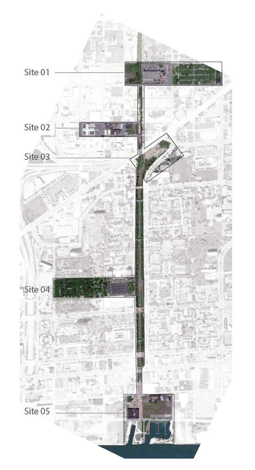 A site map for Liquid Planning Detroit.