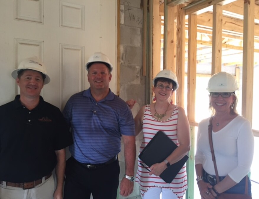 NEXTadventure Frame Walk: Taylor Morrison's Mike Corcoran (builder), and vp of construction Steve Atwood, with project architect Housing Design Matters principal Deryl Patterson, and award-winning interior design specialist Lita Dirks.