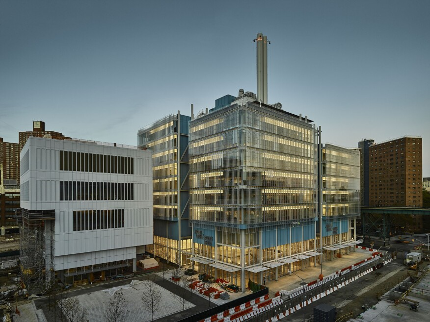 Lenfest Center for the Arts and Jerome L. Greene Science Center, Columbia University Manhattanville Campus. Designed by Renzo Piano Building Workshop, with Davis Brody Bond (executive architect).