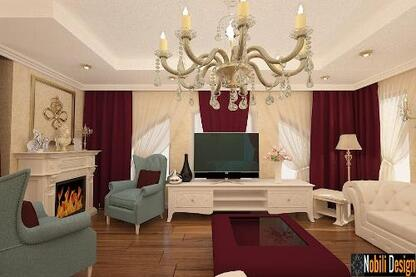 Interior design for the living room area