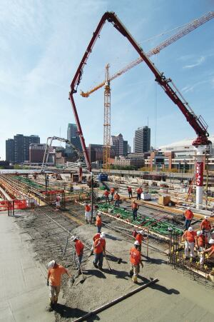 Structural deck pour at a St. Louis hotel and casino.