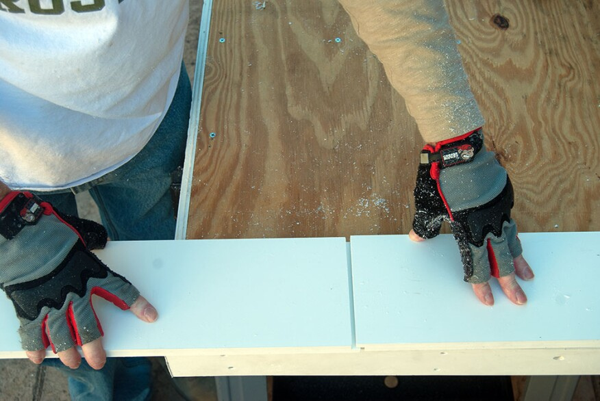 It's best to place a shiplap movement joint in an unobtrusive location, as the joint will be visible in cooler weather when the boards contract. Some builders will fill the gap with sealant, but this step isn't necessary since the joint itself will block most moisture from penetrating to the substrate.