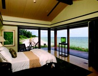The master bedroom and the living room both have views to the Gulf of Mexico.