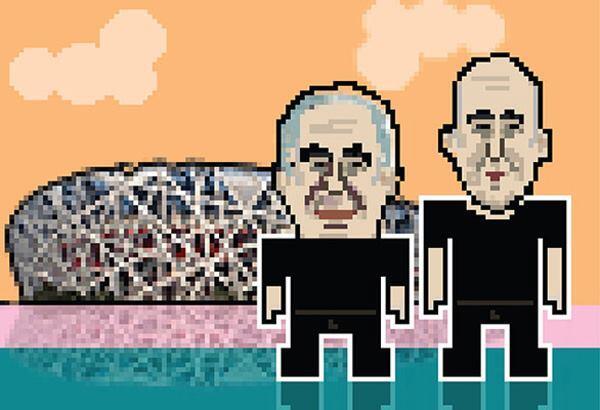 Herzog & de Meuron, with Beijing National Stadium (the Bird's Nest).