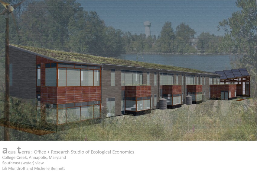 Aqua Terra: Office and Research Studio for Ecological Economics