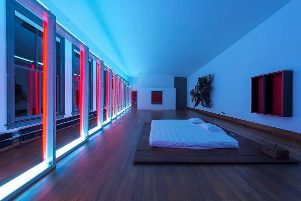 101 Spring Street, fifth floor. 2013. Art by Dan Flavin, Donald Judd, John Chamberlain, Lucas Samaras.