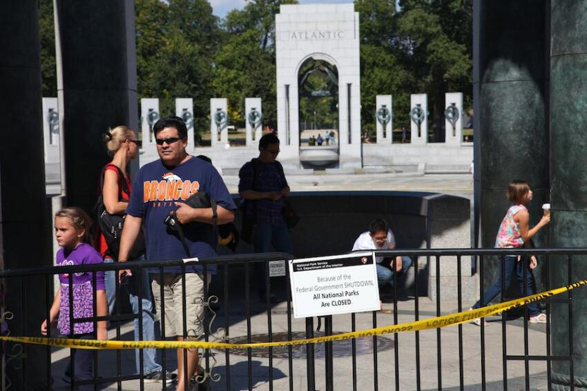 Despite the closure, a ceremony to honor veterans took place this morning, and people were allowed into the memorial.