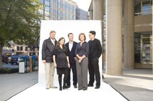 From left, Lars Lerup, Georgeen Theodore, Henry Urbach, Jeanne Gang, and Eric Höweler.