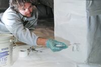 Seal Seams In Crawlspace Liners