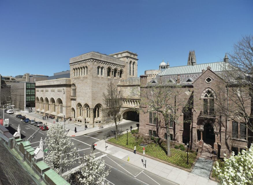 Exterior view of the Yale University Art Gallery.