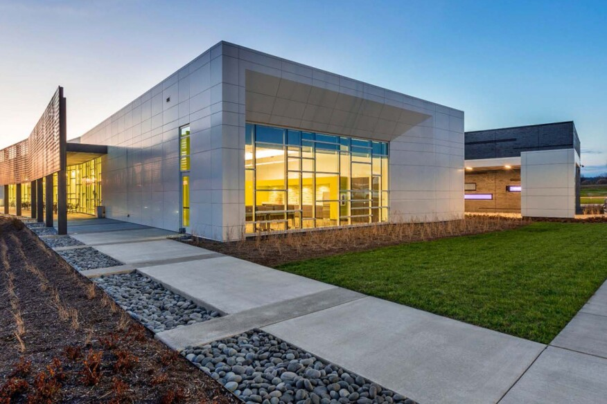 Bellevue Library, by Hastings Architecture Associates.
