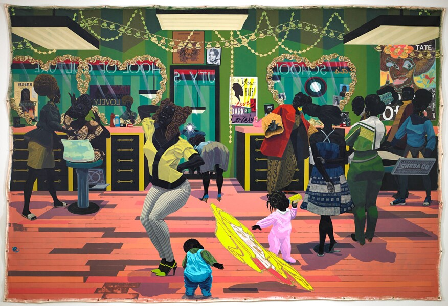 School of Beauty, School of Culture (2012) by Kerry James Marshall